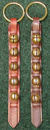 Brass Bells on Leather Strap